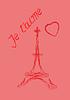 Valentine `s Day Grußkarte in Französisch