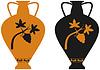 Amphora mit Weinreben