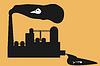 Schmutzige chemische Fabrik | Stock Vektrografik