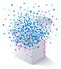 ID 3469916 | Weiße geöffnete Box mit fliegenden Sternen | Stock Vektorgrafik | CLIPARTO
