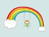 Schaukel auf dem Regenbogen