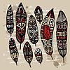 Ethnische Feather Set | Stock Vektrografik