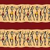 Afrykańskich tancerzy sylwetka | Stock Vector Graphics