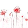Rote Mohnblumen | Stock Vektrografik
