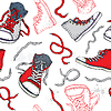 Sneakers. Schuhe Seamless pattern