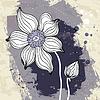 Schneeglöckchen Blume auf Zerknittertes Papier Hintergrund | Stock Vektrografik