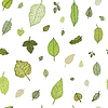 Green leaf. seamless pattern | Stock Vektrografik