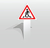 Przejście dla pieszych znak | Stock Vector Graphics