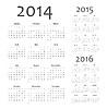 European 2014, 2015, 2016 Jahre Kalender