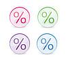 Prozent-Zeichen in Glaskugel