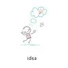 ID 3579059 | Geburt einer Idee. | Stock Vektorgrafik | CLIPARTO