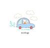 Эко-автомобиль | Векторный клипарт