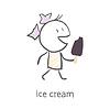 Mädchen mit Eis