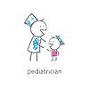 Kinderarzt mit Kind