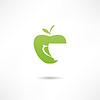 Apfel und Tasse. Icon von Apfelsaft