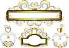 Oprawki ozdobione złotymi gwiazdami i krzywych | Stock Vector Graphics