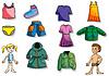 아이들 옷의 설정 | Stock Vector Graphics