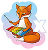 FoX and xylophone | Stock Vector Graphics