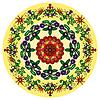 摘要五颜六色的鲜花装饰饰品 | 向量插图