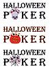 Halloween Poker. Illustration