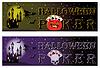 Zwei Halloween-Poker-Banner