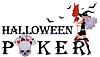 Halloween Poker-Banner mit Schädel