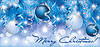 Christmas blue silver banner