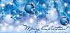 Christmas blue silver banner