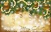 Золотая рождественская открытка | Векторный клипарт
