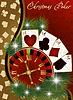 Рождественский покерный баннер | Векторный клипарт