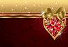 Valentinstag Einladung mit Rubin Herz