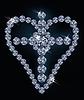 Diamant Kreuz und Herz, Vektor-Illustration
