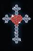 Diamant Kreuz mit Rubin Herz, Vektor-Illustration