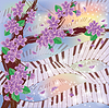 Spring Melody-Karte, Vektor-Illustration