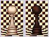 Weiß und Schwarz Chess Pawn, Vektor-Illustration