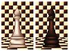Weiß und Schwarz Schach Bischof, Vektor-Illustration