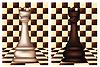 Weiß und Schwarz Schach Rook, Vektor-Illustration