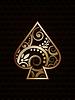 Spade's ace karty do gry w pokera, ilustracji wektorowych | Stock Vector Graphics