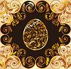 Luksusowe złote karty wielkanocne, wektorowe | Stock Vector Graphics