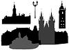 Silhouetten von Prag | Stock Vektrografik