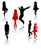 Irischer Tanz | Stock Vektrografik