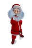 Renderowania 3D Santa Claus pokazuje emocje przyjemności | Stock Illustration