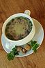 Zupa z pieczarkami i pietruszką | Stock Foto