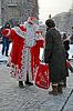 KIEW - 23. Dezember: Weihnachtsmann mit weißem Bart | Stock Foto