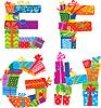 EFGH - Englisches Alphabet - Buchstaben von Geschenken