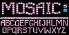 Mosaic Alphabet - rosa Farbe