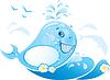 funny Wal von Wassertropfen gemacht