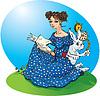 Alice `s Adventures in Wonderland. Alice lectura de libros,   Ilustración vectorial