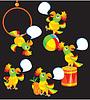 Set Papagei Cartoons für kindische ABS-Buch