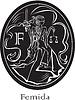 Femida - Göttin der Gerechtigkeit - ovalen Rahmen
